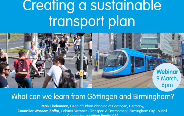 Creating a sustainable transport plan webinar